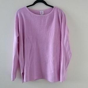 CORE purple long sleeve cabin style sweater XL